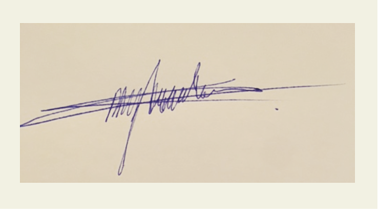 Charissa Dragtenstein Signature