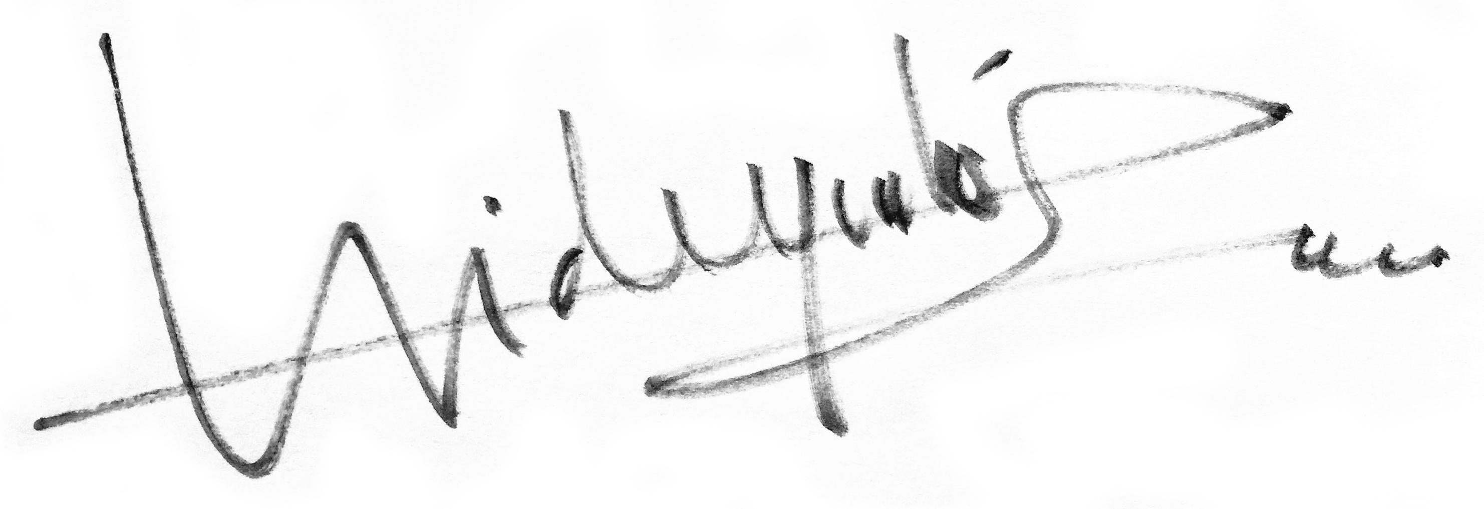 Hideyuki Sobue Signature