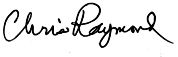 Chris Raymond Signature