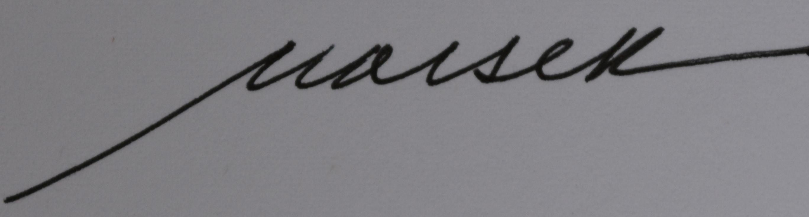 Barbara Maiser Signature