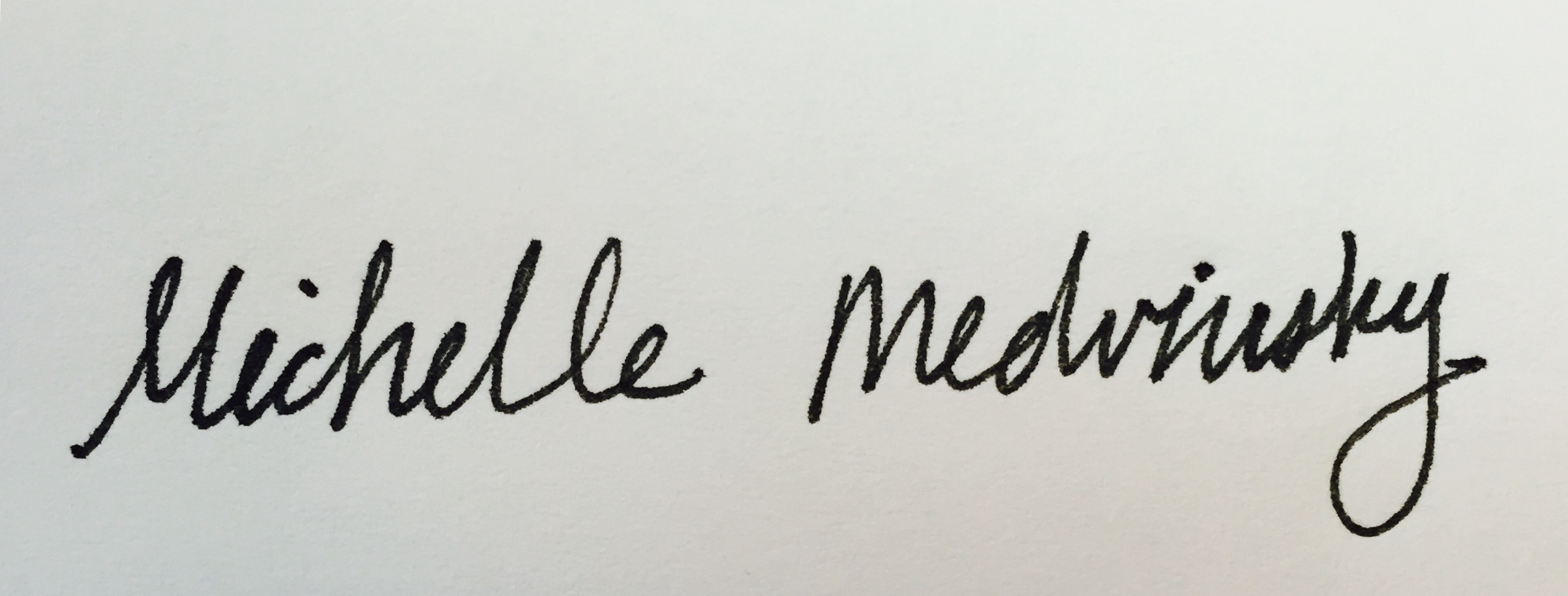Michelle Medvinsky Signature