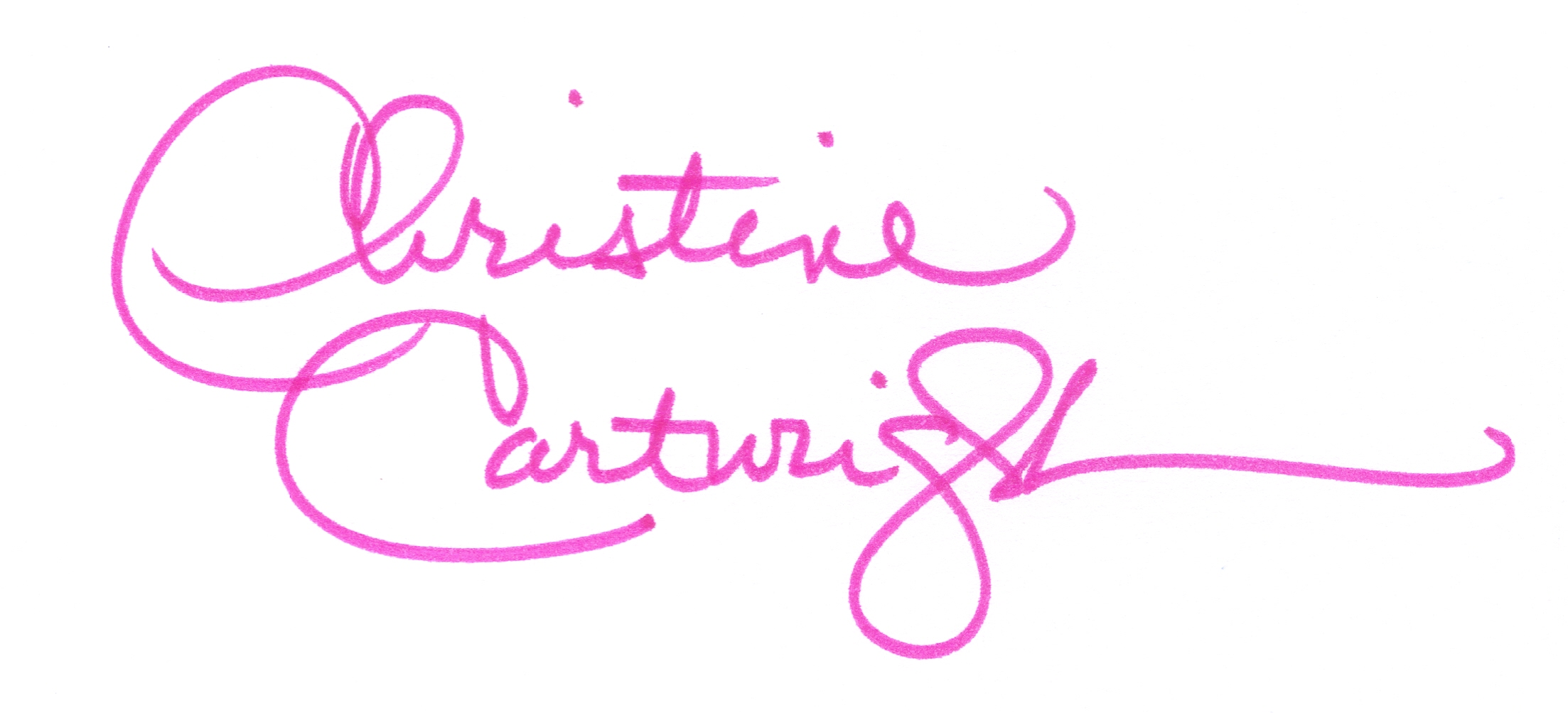 Christine Cartwright Signature