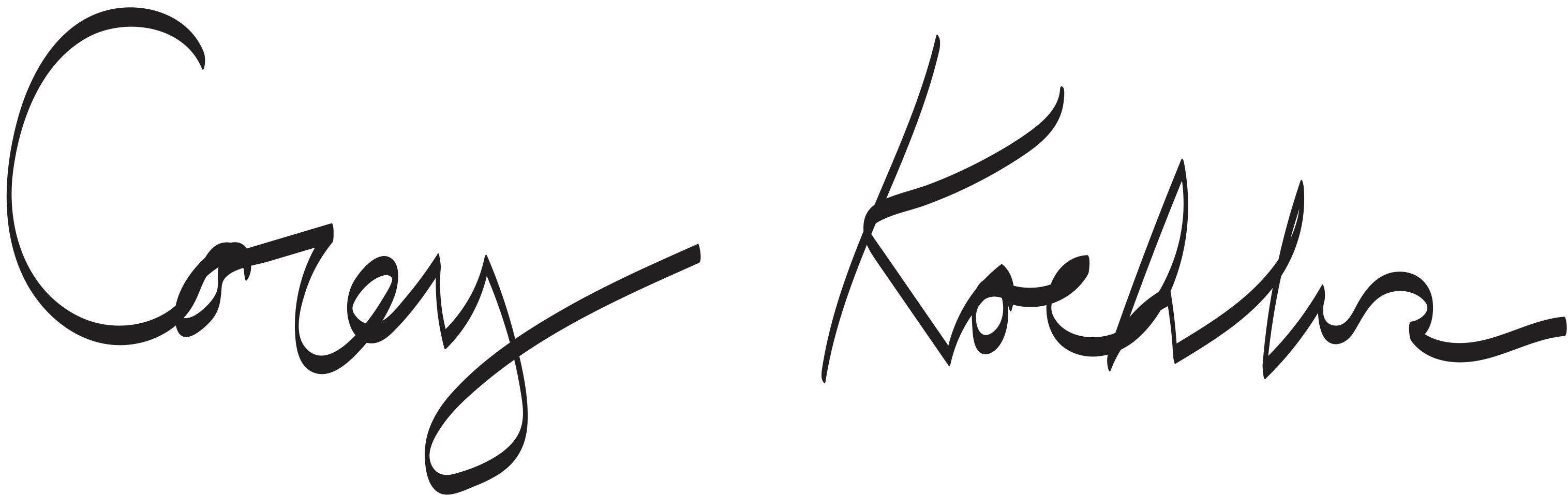 Corey koehler Signature