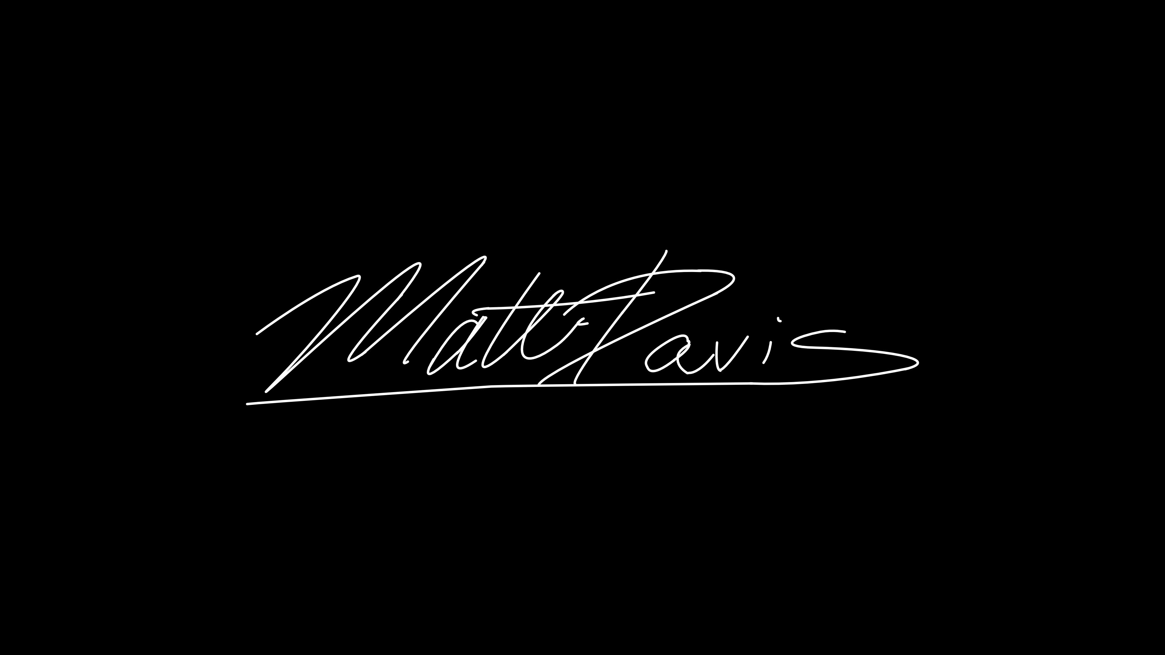 Matt Davis Signature