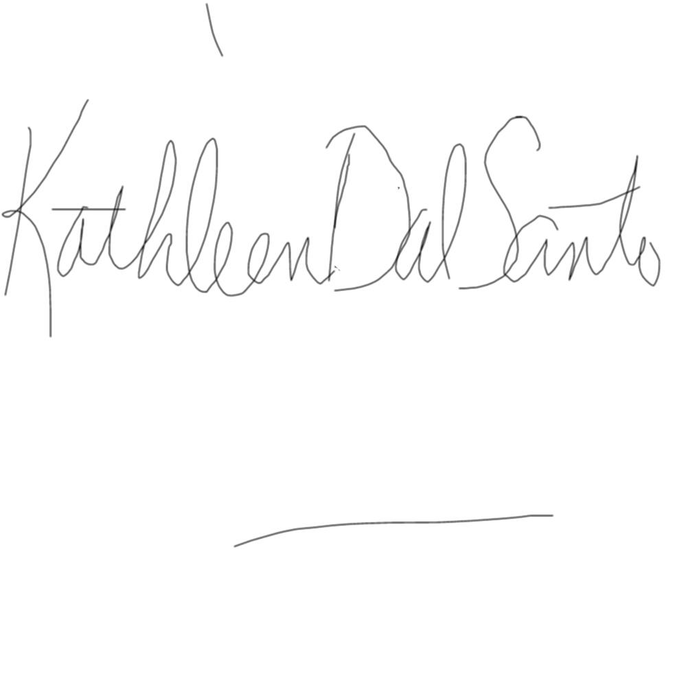 Kathleen Dal Santo Signature