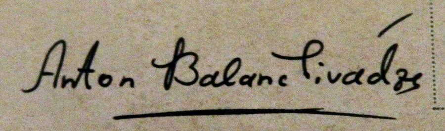 Anton  Balanchivadze Signature