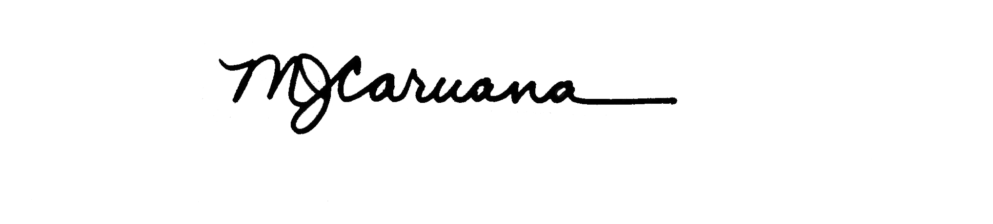 Mary Jo Caruana Signature