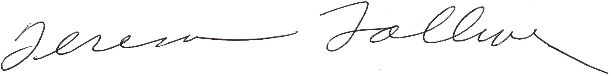 Teresa Tolliver Signature