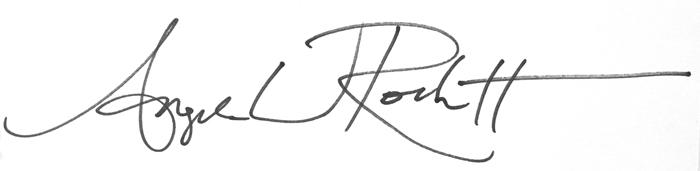 Angela Rockett Signature