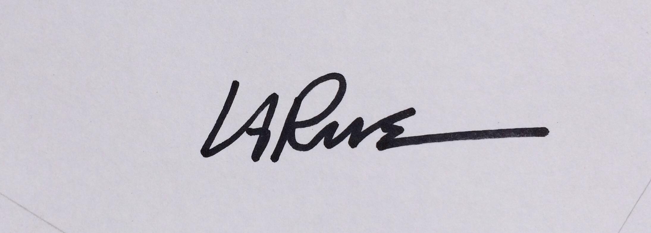 Ron LaRue Signature