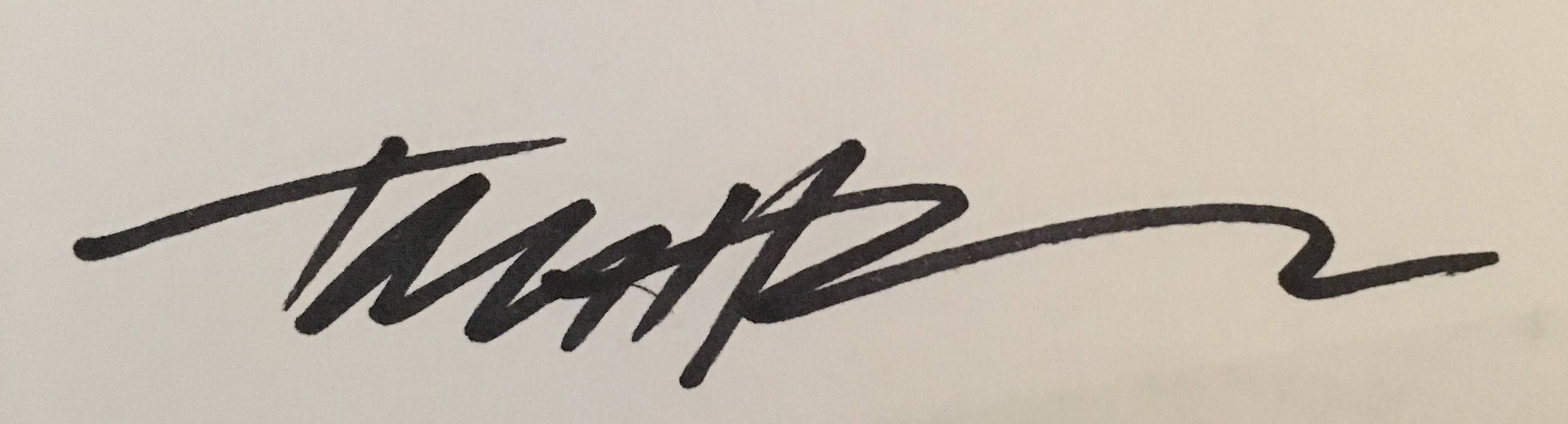 Tom Hoffman Signature
