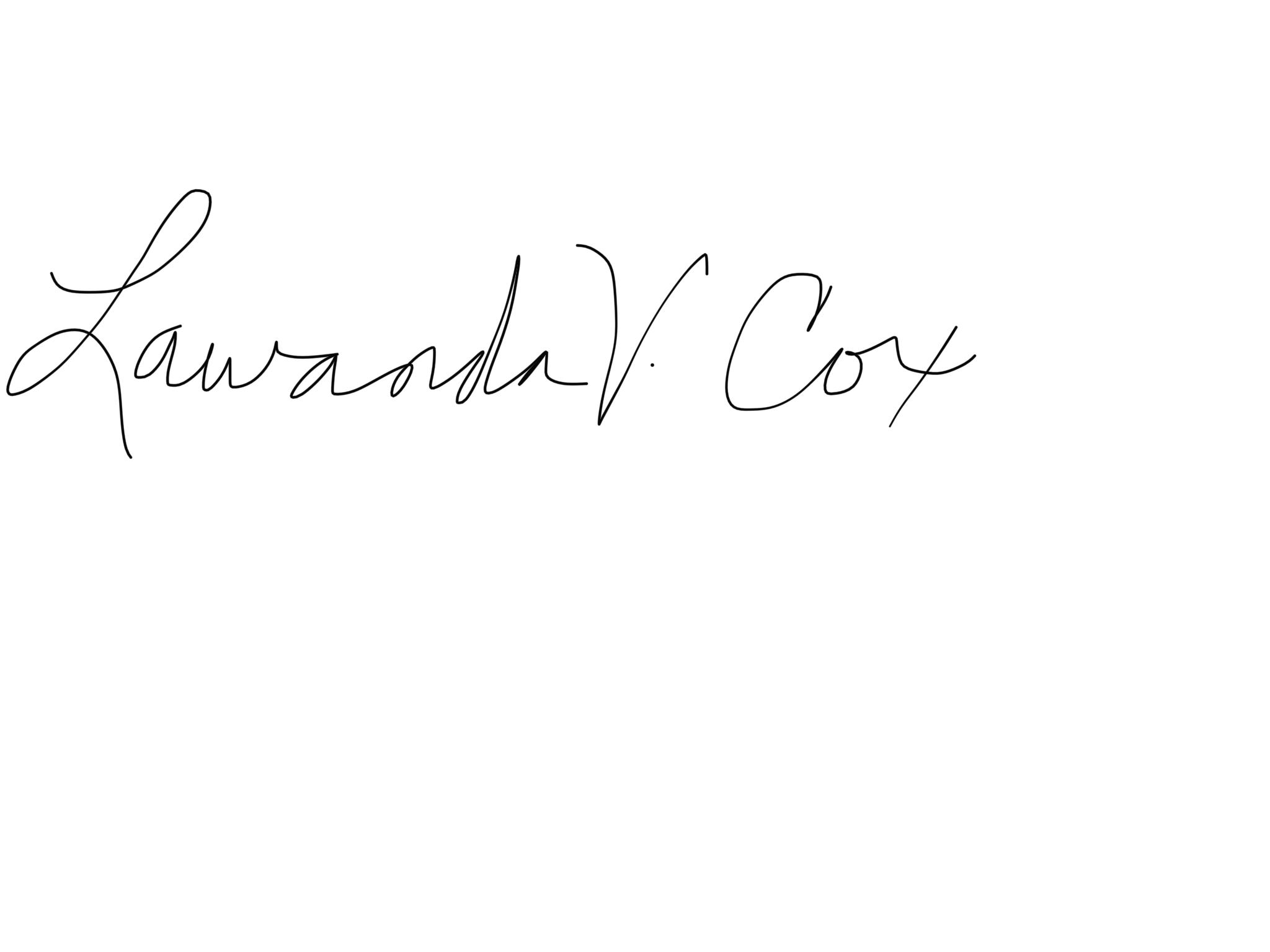 Lawanda Cox Signature
