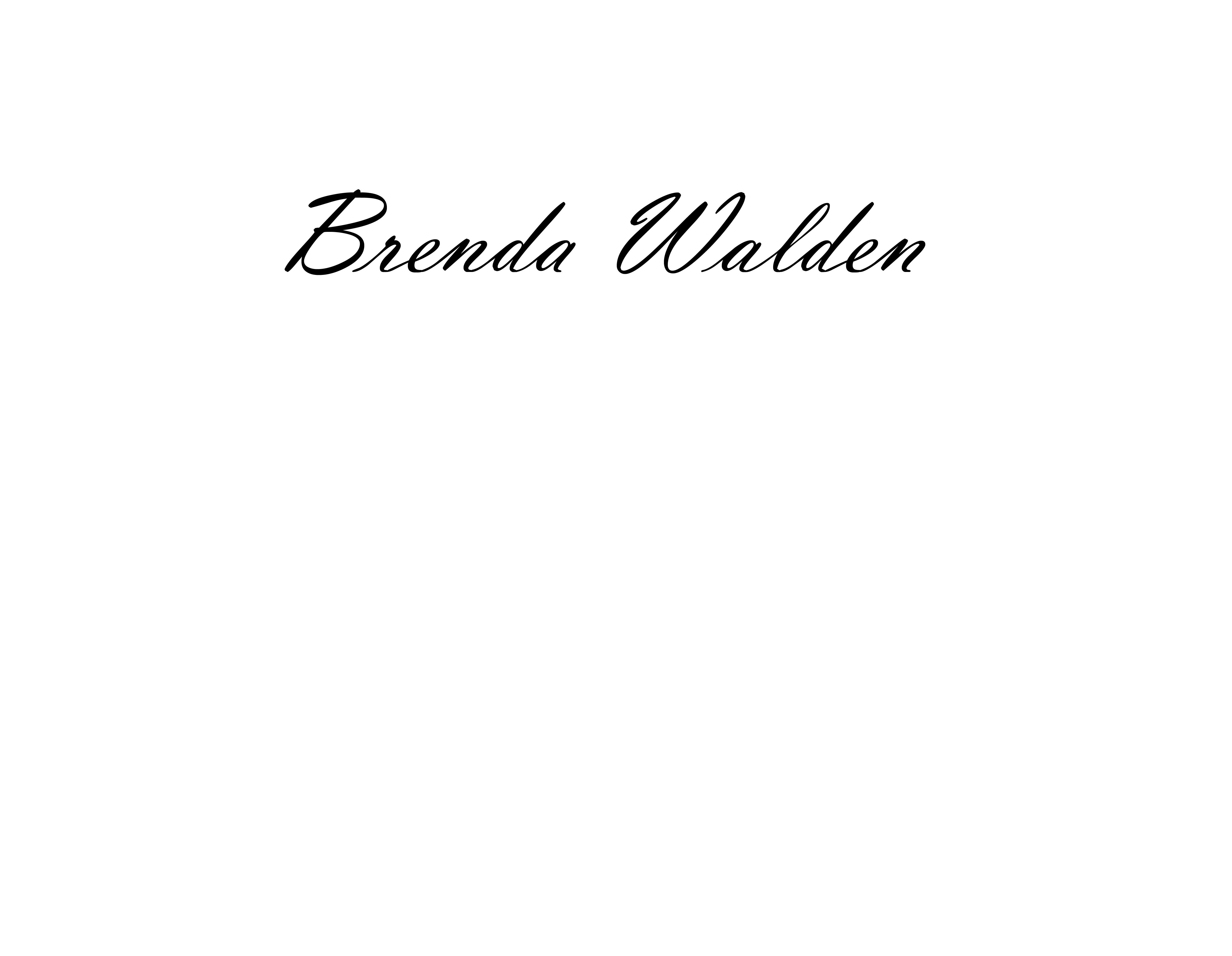 Brenda Walden Signature