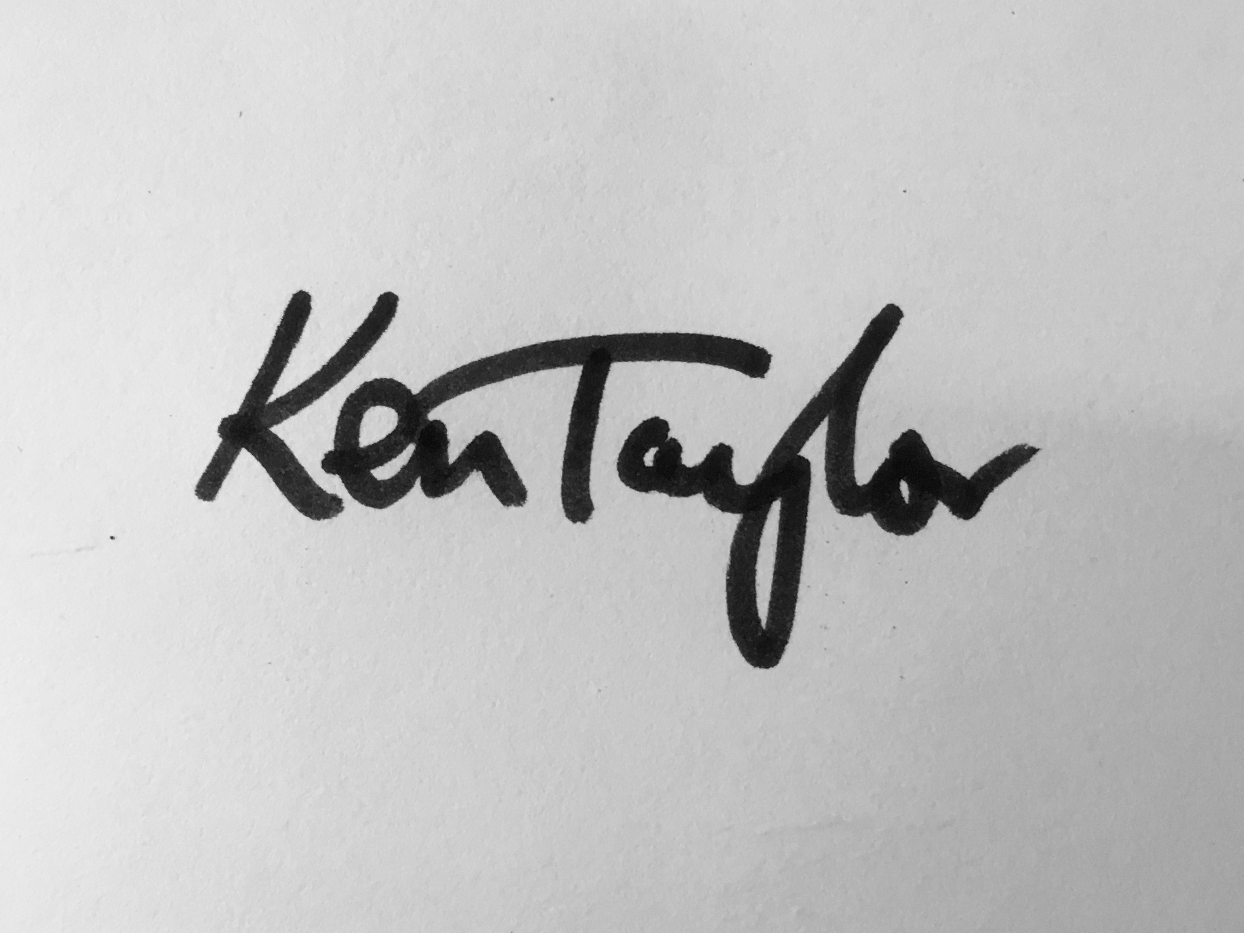 Ken Taylor Signature