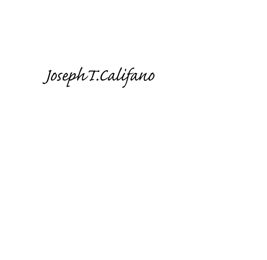 Joseph Califano Signature