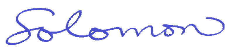 Jerry Solomon Signature