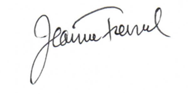 Jeanne Tremel Signature