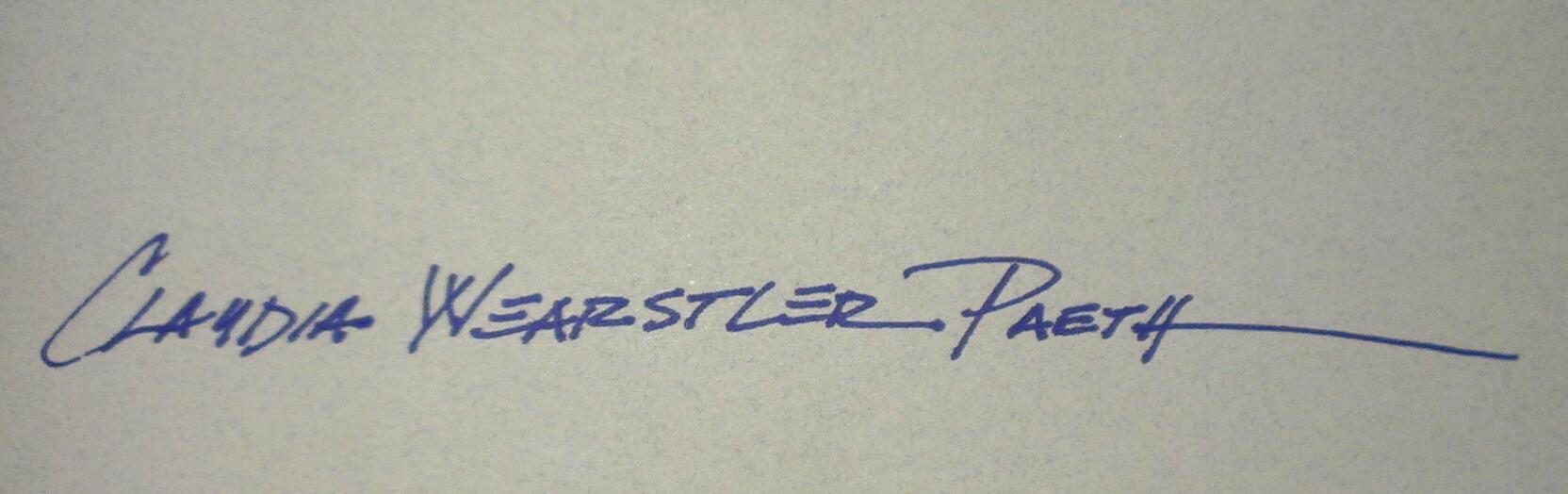 Claudia wearstler paeth Signature