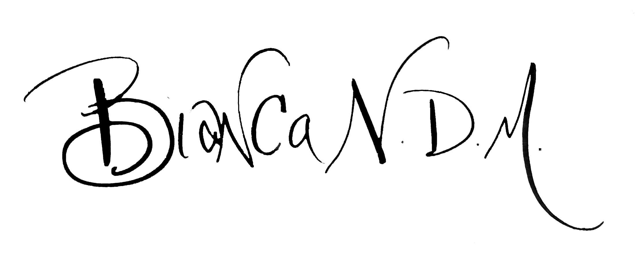 Bianca Mandity Signature