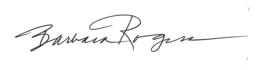 Barbara Rogers Signature