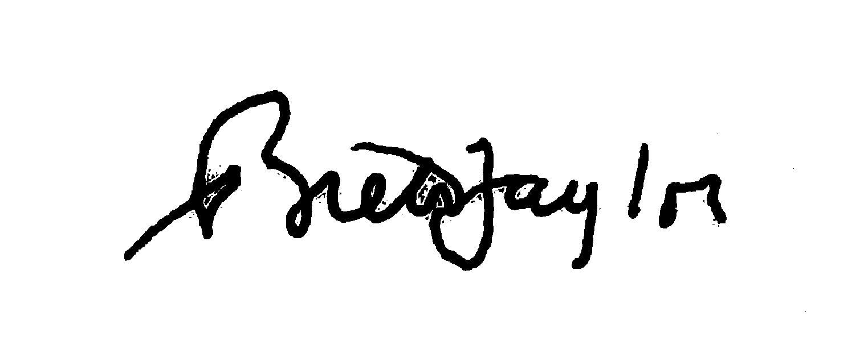 Brett Taylor Signature