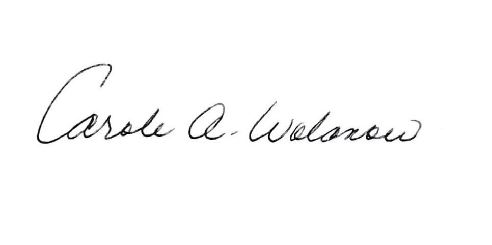 Carole Wolanow Signature