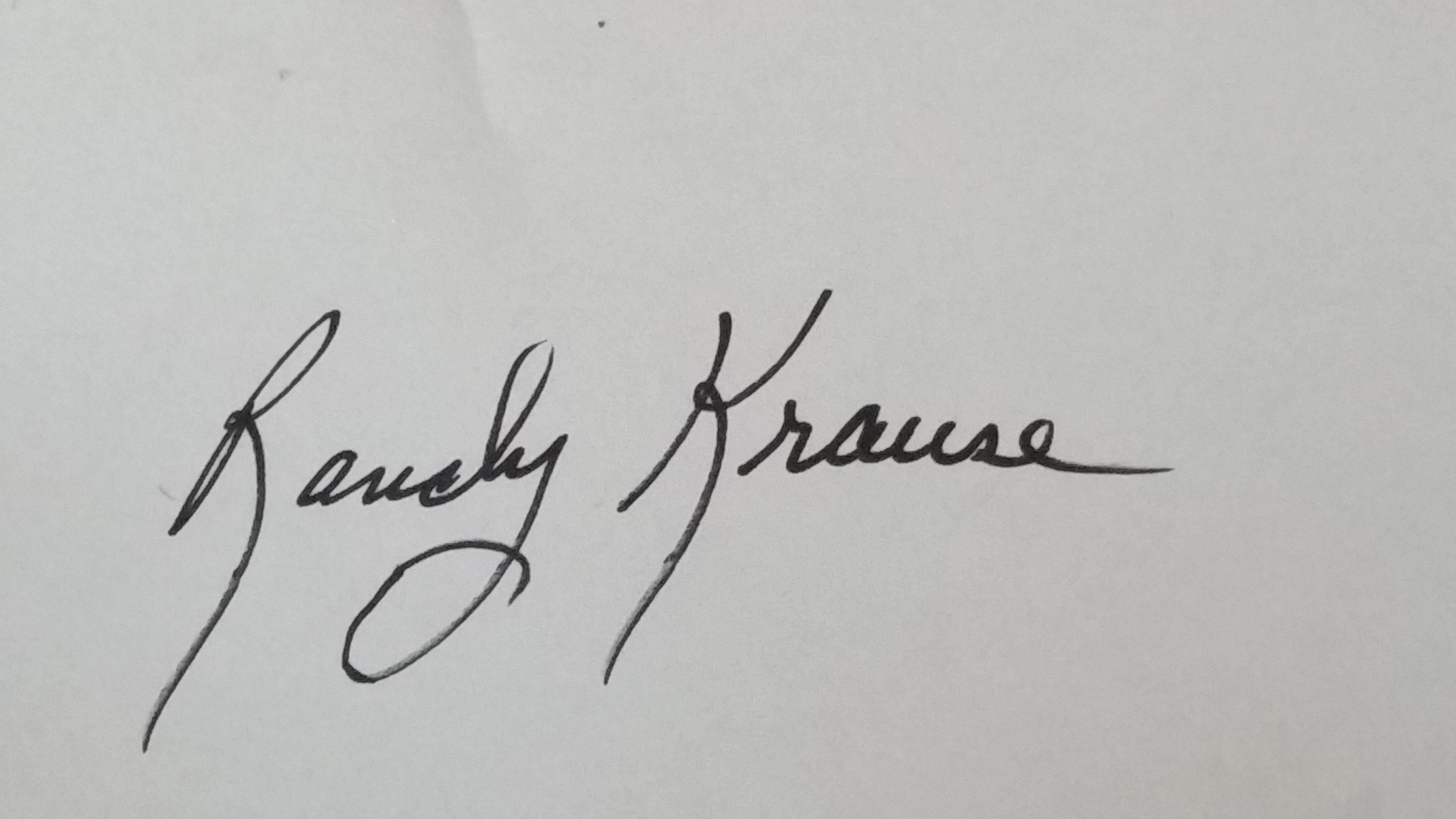 Randy Krause Signature