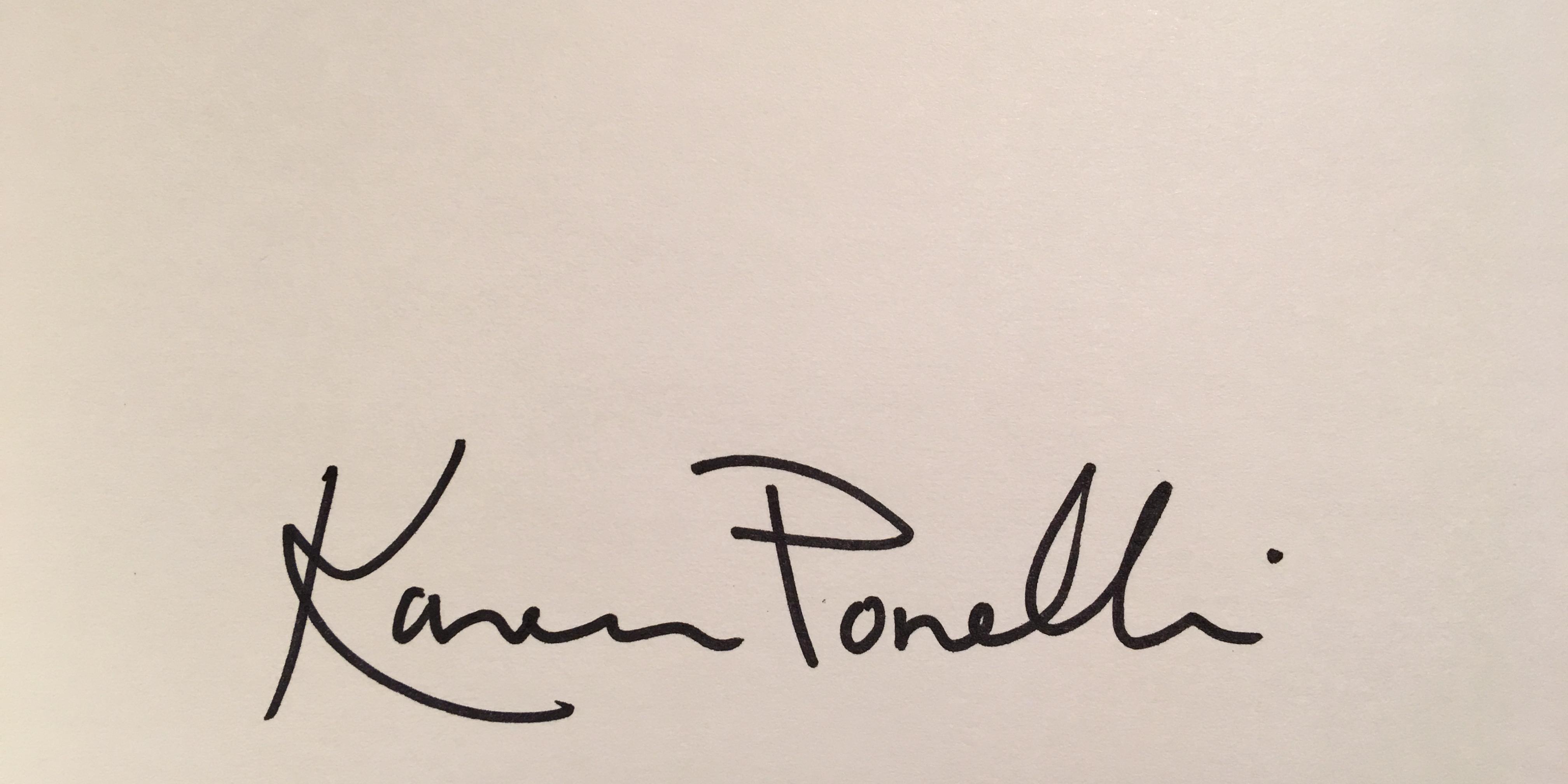 Karen Ponelli Signature