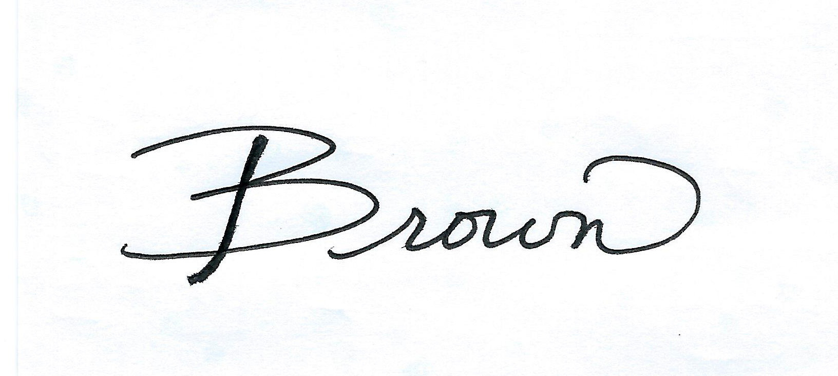 Laurie Brown Signature