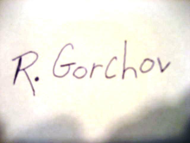 Robert Gorchov Signature