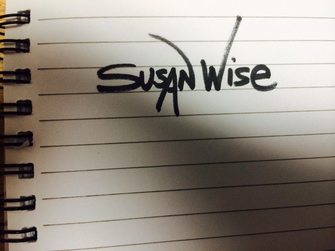 Susan Wise Signature