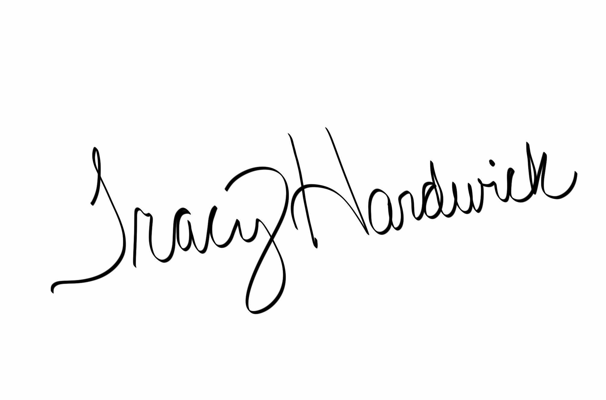 Tracy Hardwick Signature