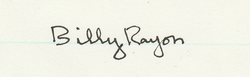 Billy Rayon Signature