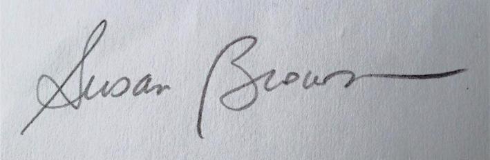 susan Q brown Signature