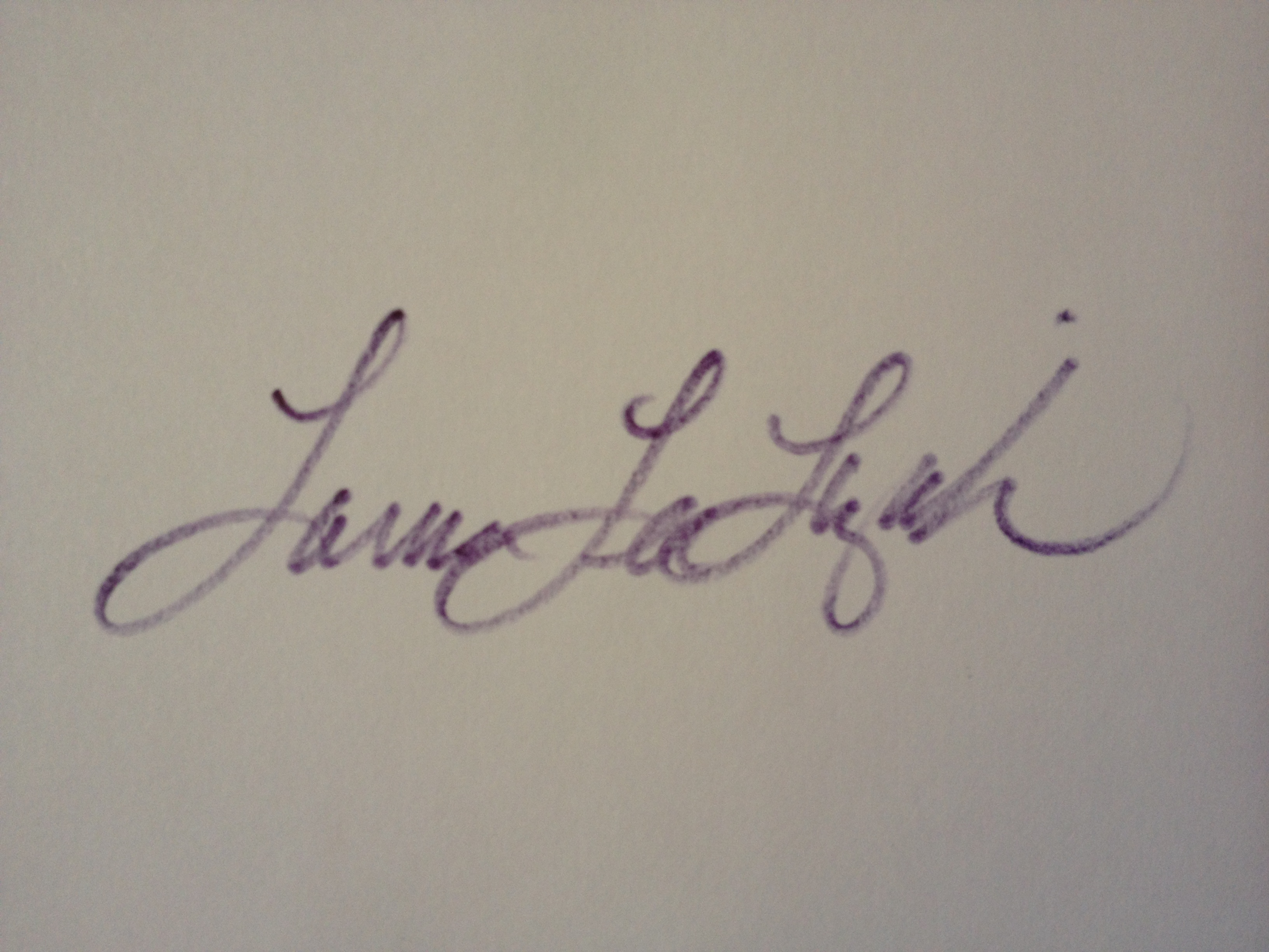 Laura Lee Lizak Signature