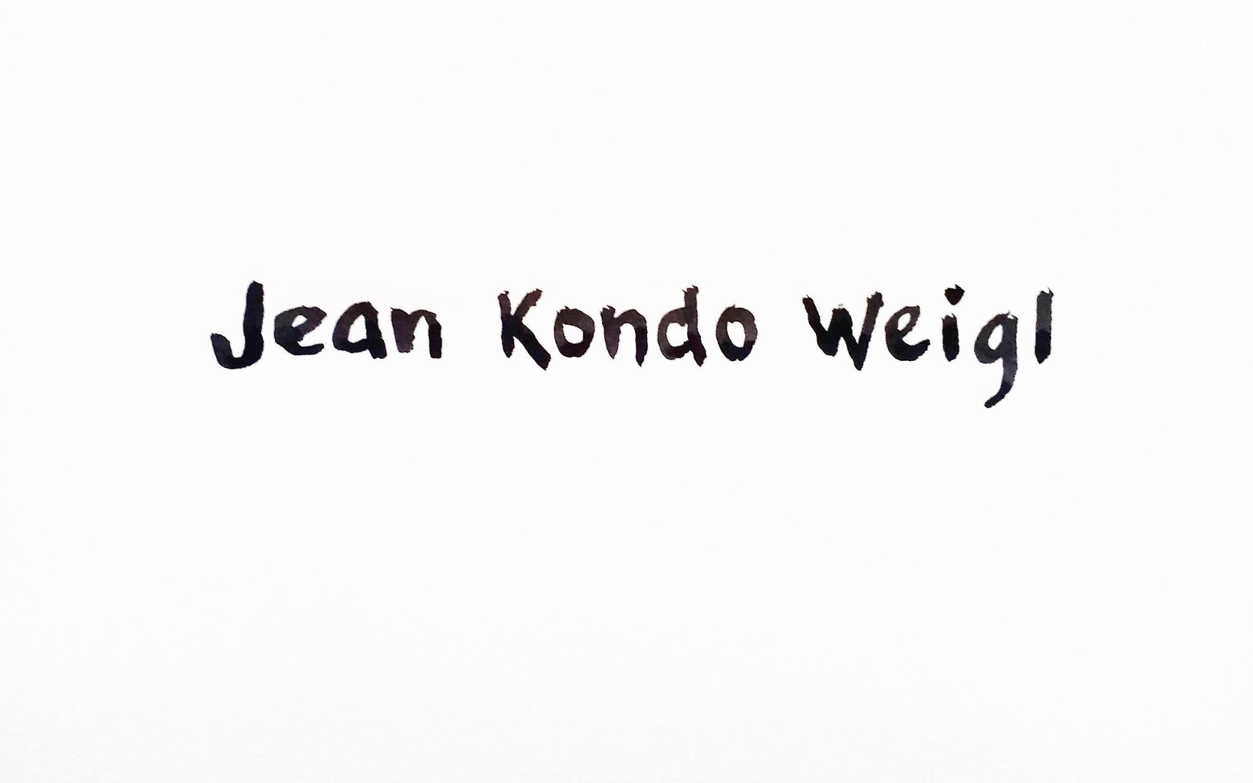 Jean Kondo Weigl Signature