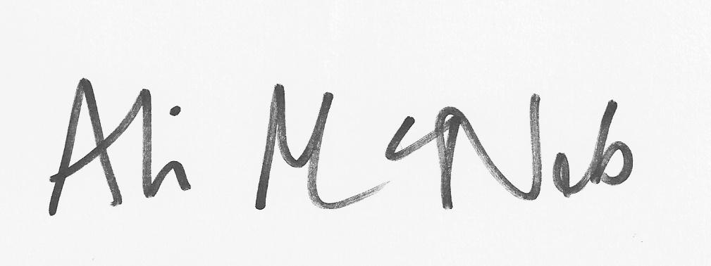 Ali McNab Signature