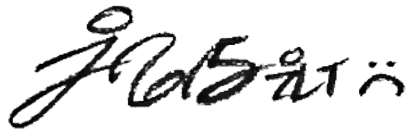 Justin Fleurimond Menard Signature