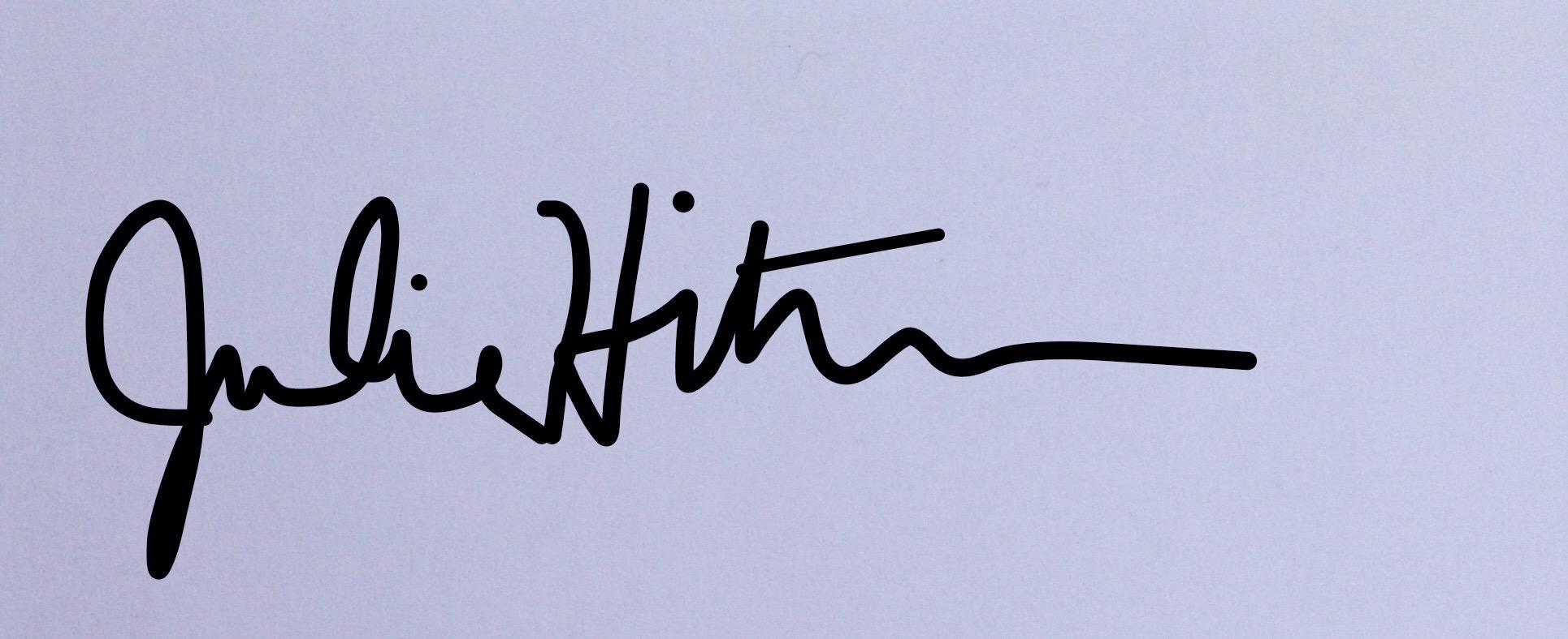 Julie Hiltbrunner Signature