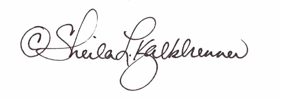Sheila  Kalkbrenner Signature