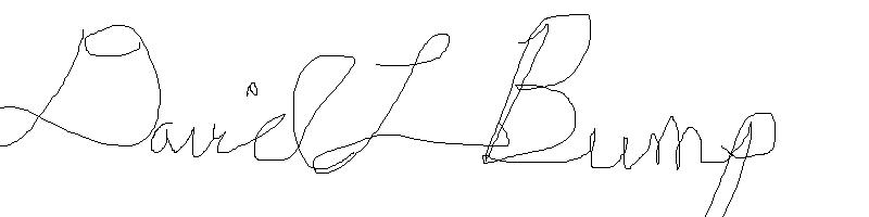 David Bump Signature