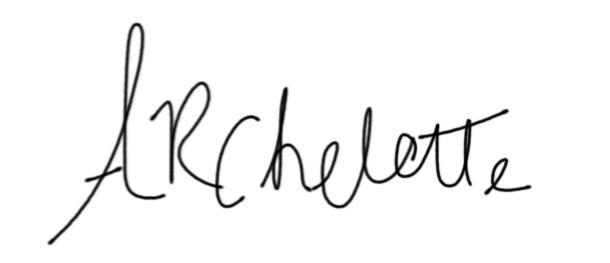 Arlene Chelette Signature