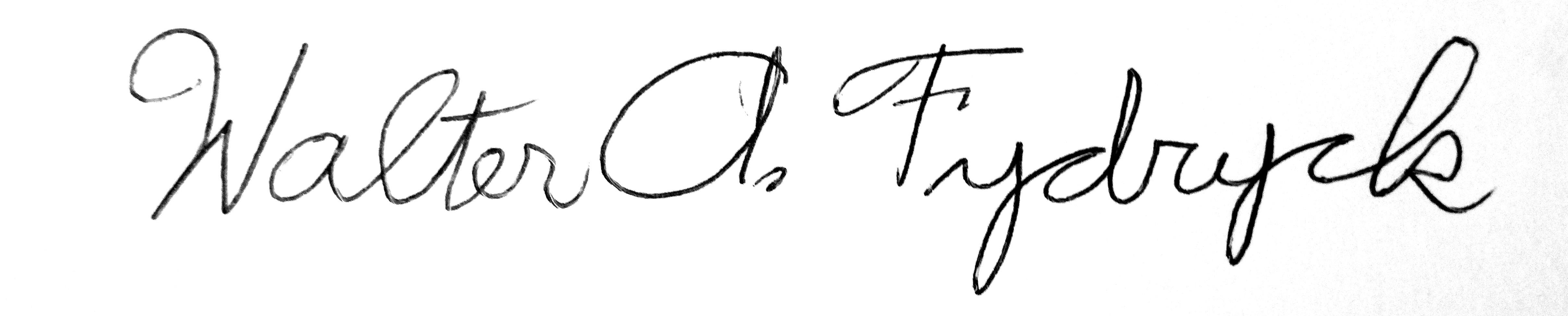 Walter Fydryck Signature