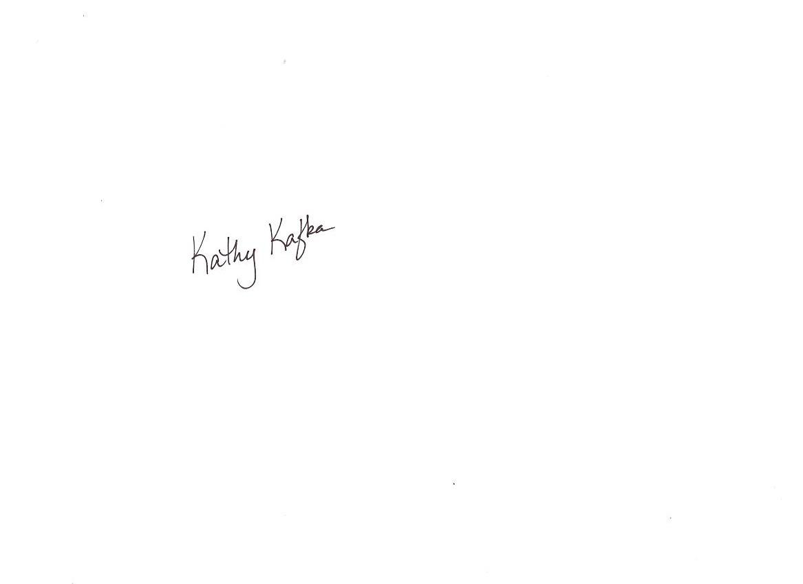 Kathy Kafka Signature
