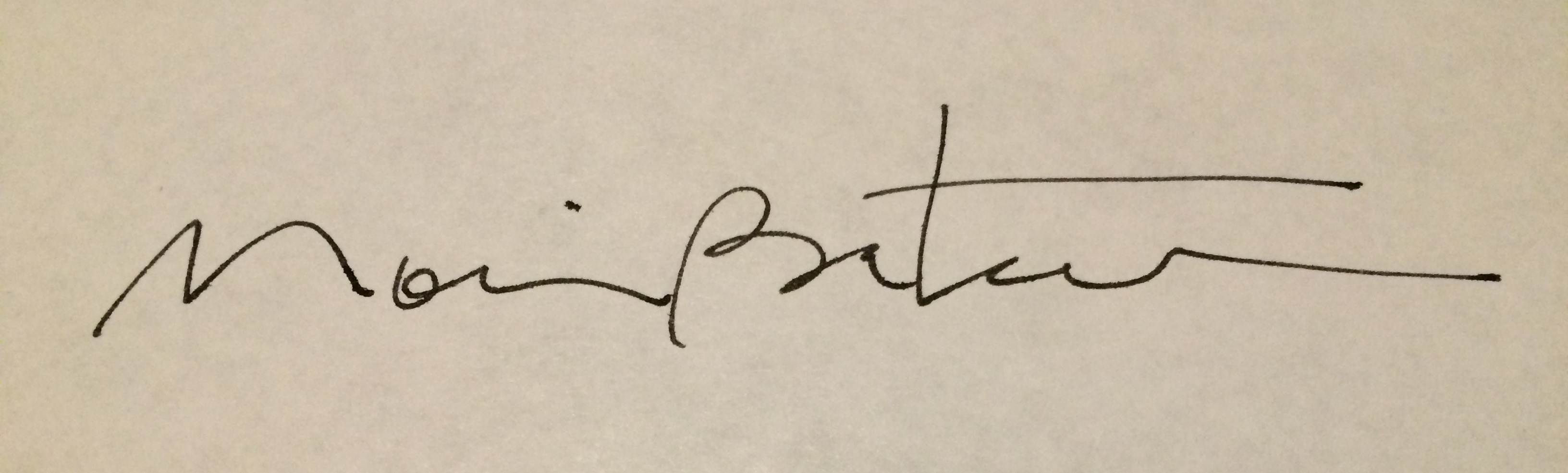 Moira Bateman Signature