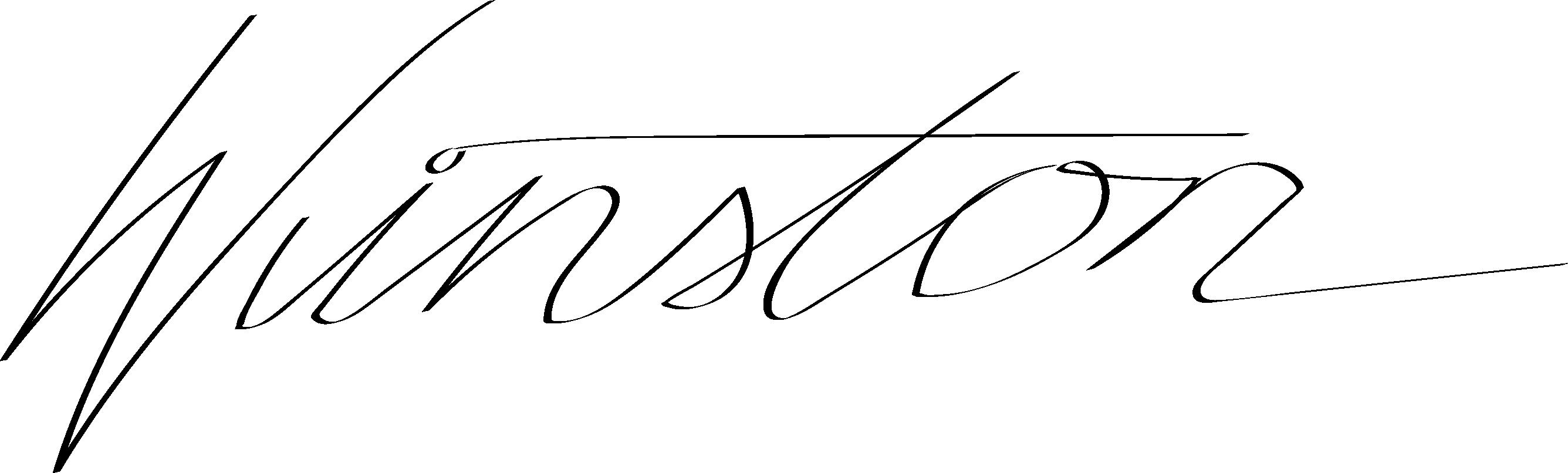 Winston Brinkerhoff Signature