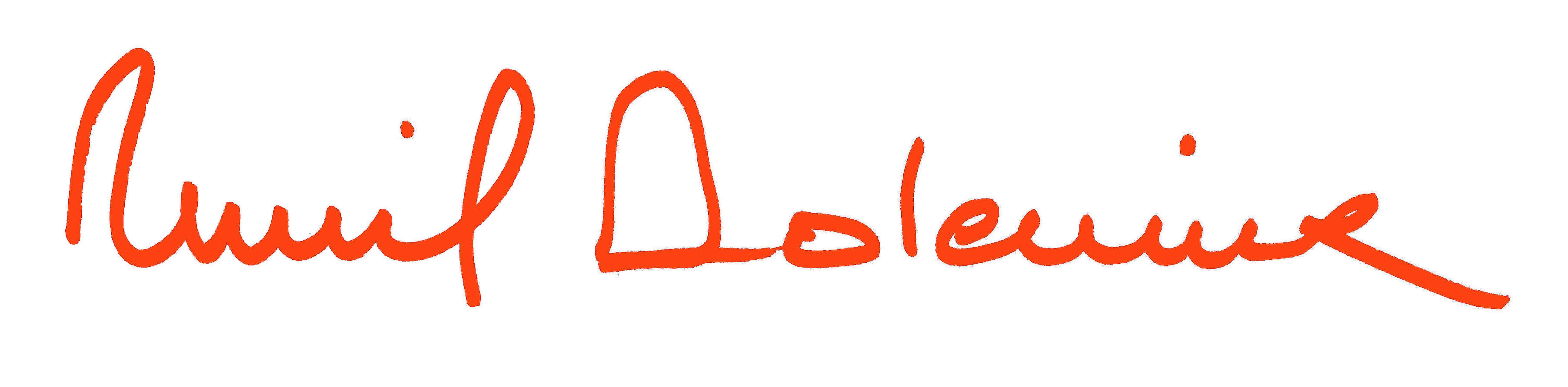 Muriel Dolemieux Signature