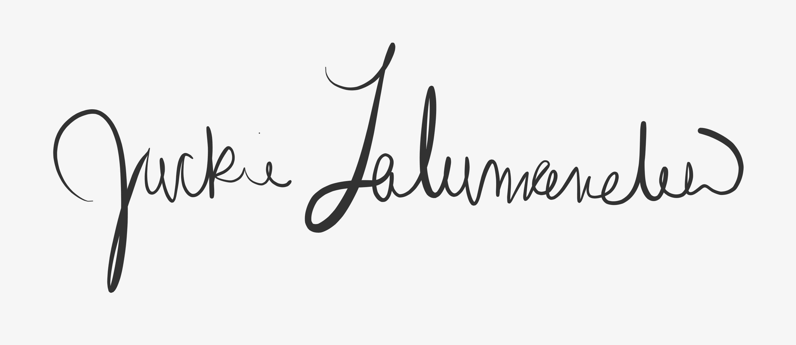 Jackie Lalumandier Signature