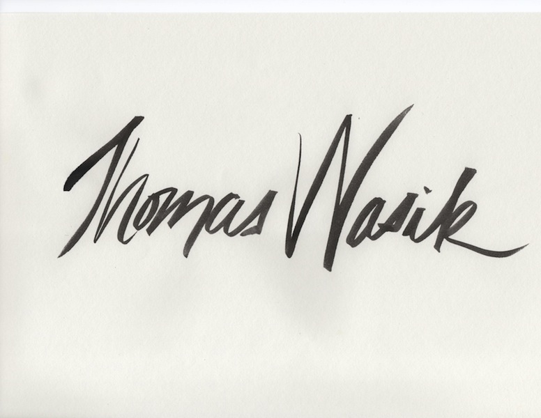 Tom Wasik Signature