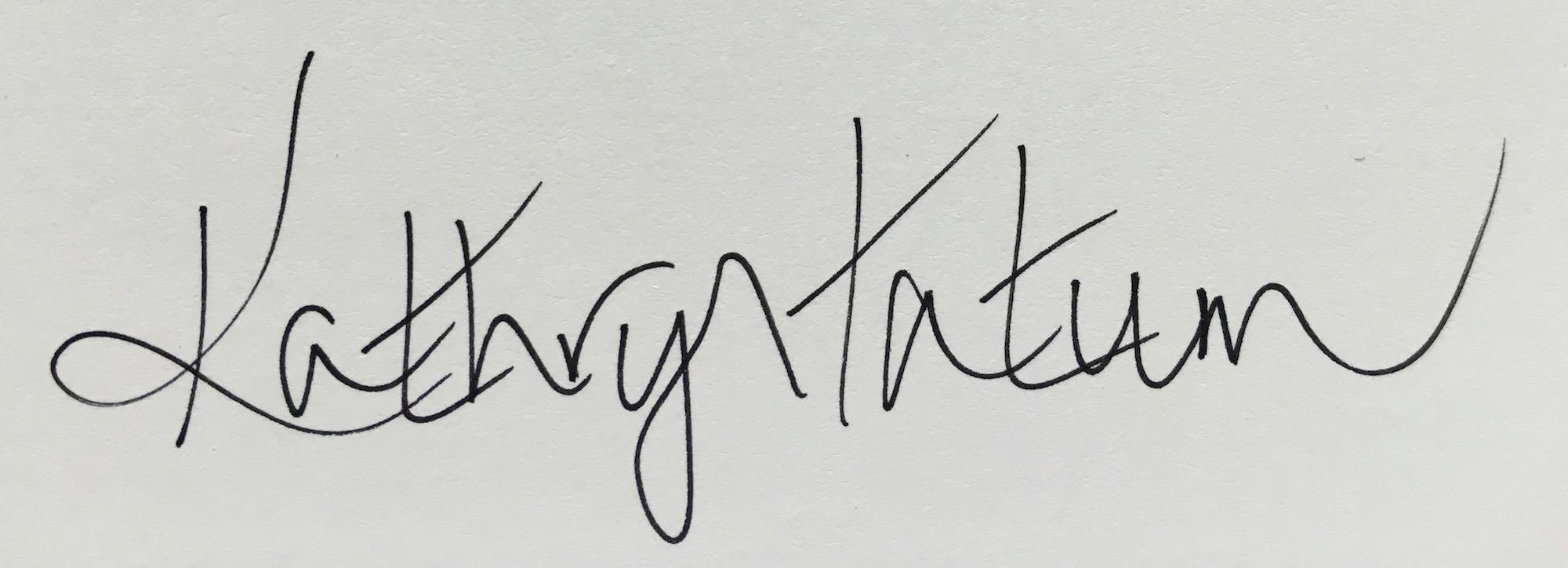 Kathryn Tatum Signature